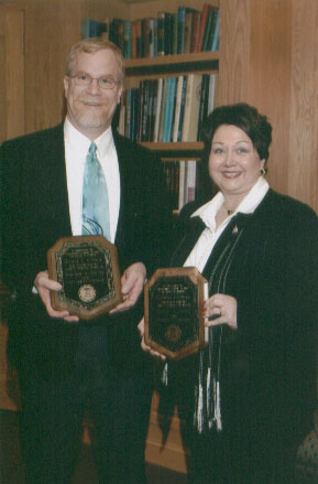 2006 Excellence in Advising Award Recipients George Connor and Debbie Goodale