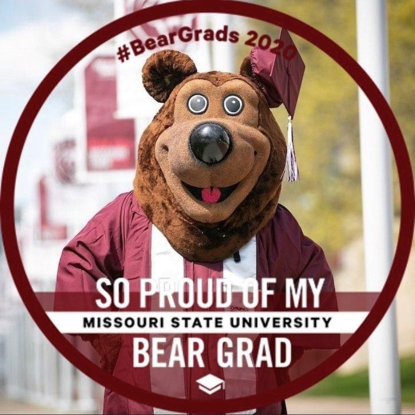 "So proud of my Bear Grad"" in maroon and white"