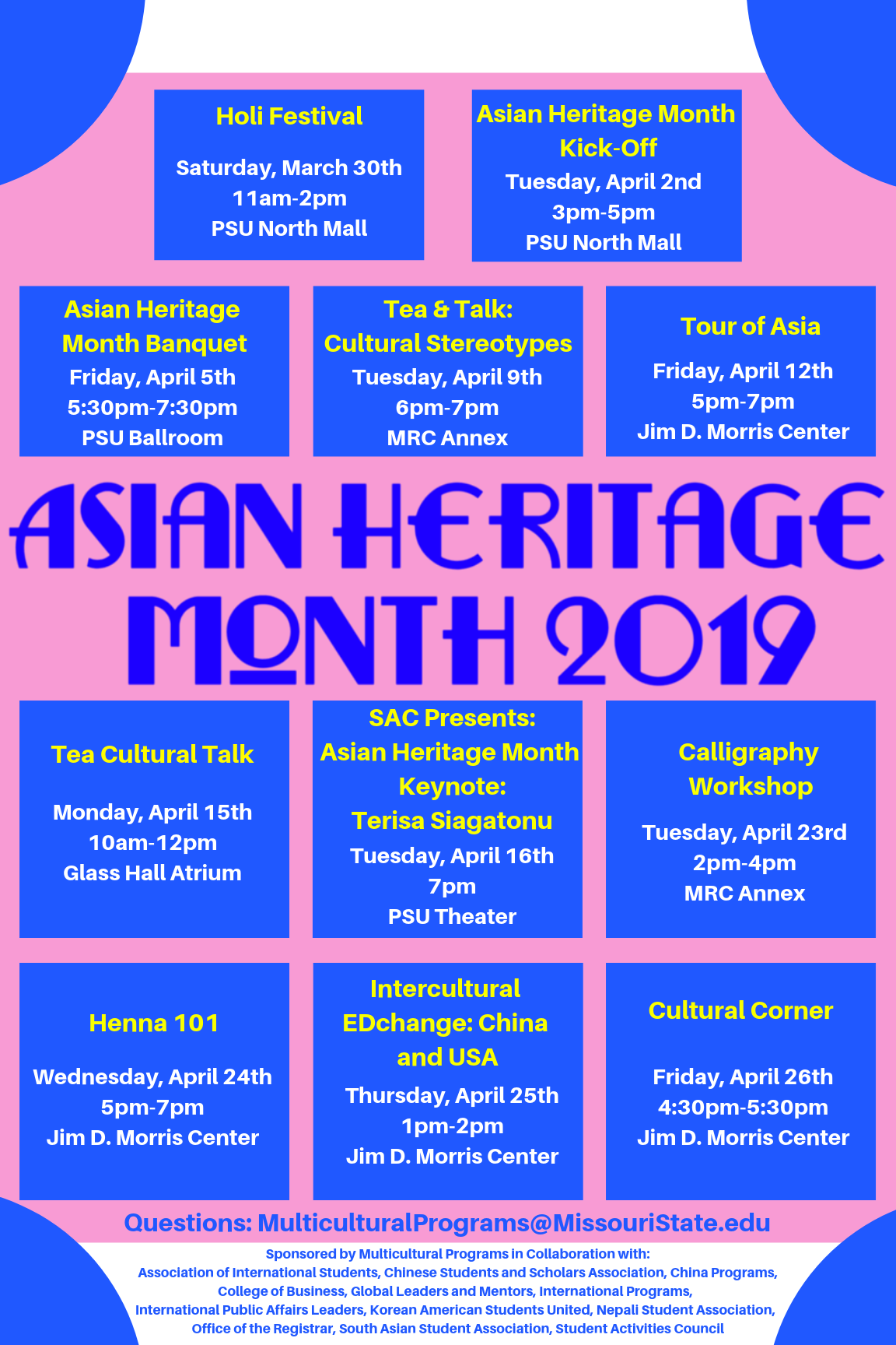 Asian Heritage Month 2019