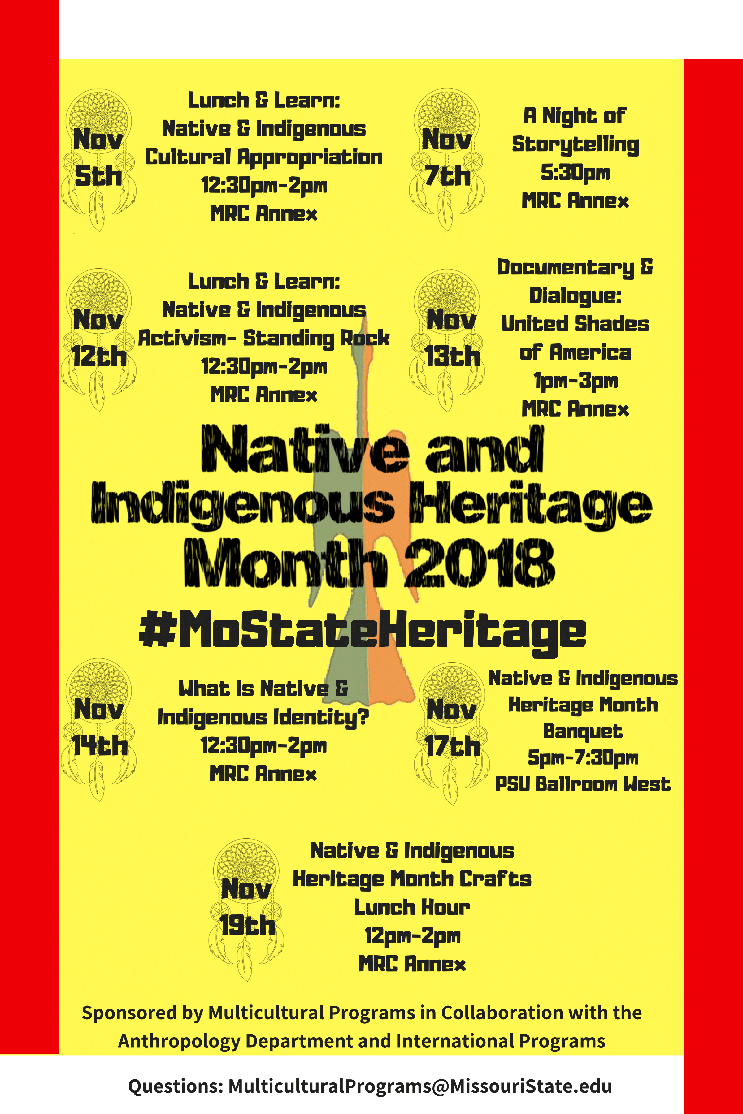 Native and Indigenous Heritage Month 2018