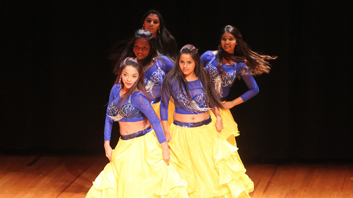 International students perform at the show.