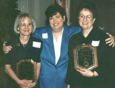 Kathy Davis with Susan Hom and Veronica Mays