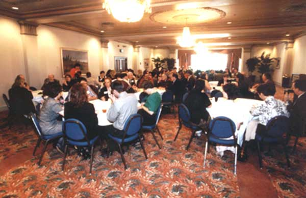 Crowd scene at the 1999 Excellence in Advising Reception