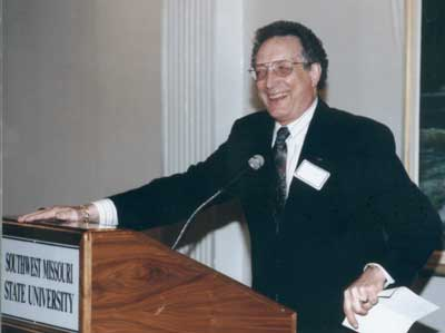 Dean Curtis P. Lawrence making comments at the 1999 excellence in Advising Award Reception