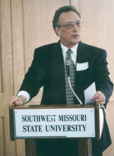 Dean Curtis P. Lawrence making comments at the 2001 Excellence in Advising Award Reception