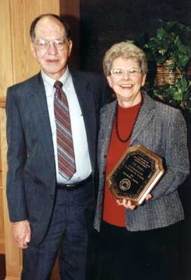 Faculty recipient J.B. Petty with Bill Petty