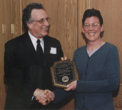 Dean Curtis P. Lawrence with faculty recipient Tamera Jahnke