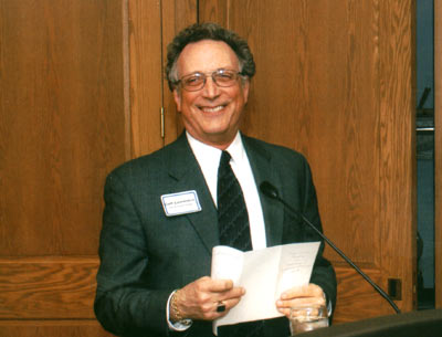 Dean Curtis P. Lawrence making comments at the 2004 excellence in Advising Award Reception