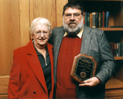 Harry Cook with former Advisement Center director, Nan Palmer