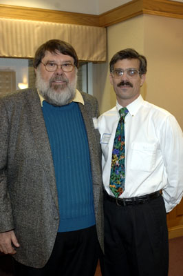Faculty recipient Tom Tomasi with Harry Cook
