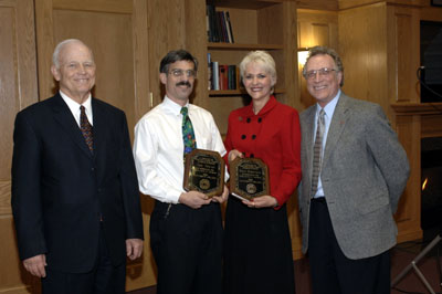 President Keiser and Dean Lawrence with Tom Tomasi and Susan Martindale