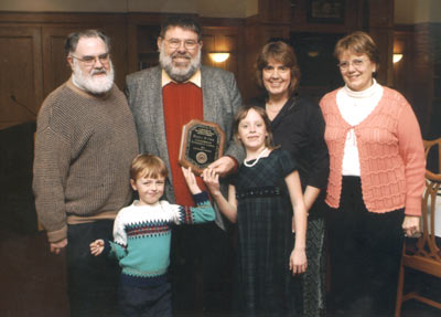 Harry Cook with his family