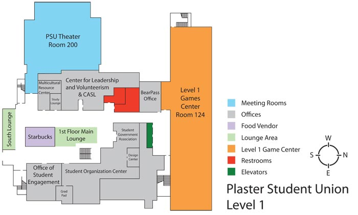 Plaster Student Union - Level 1 floor plan