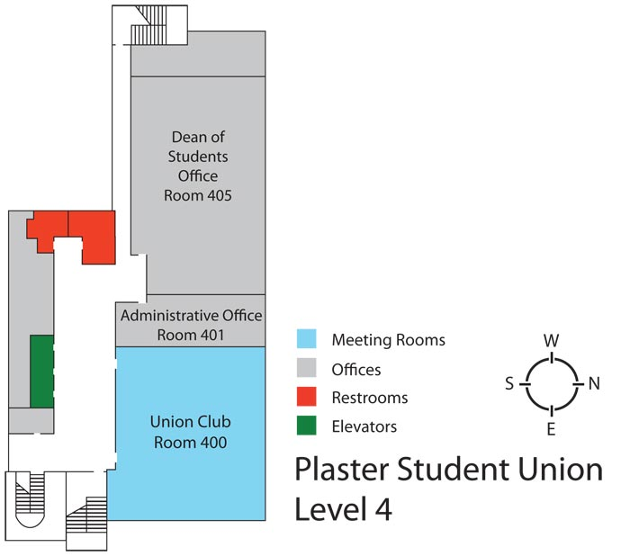 Plaster Student Union - Level 4 floor plan