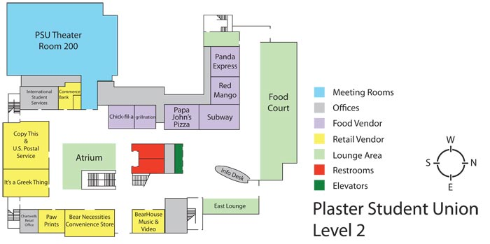 Plaster Student Union - Level 2 floor plan