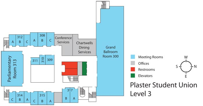 Plaster Student Union - Level 3 floor plan