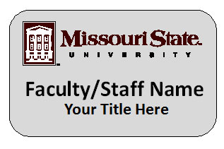 Name Badge - Faculty/Staff