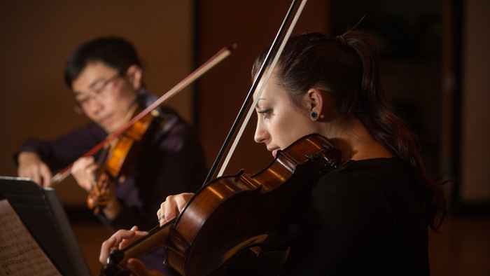 String musicians in performance
