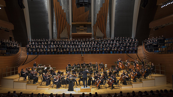 MSU's Grand Chorus and Symphony Orchestra perform the President's Concert at the renowned Kauffman Center for the Performing Arts